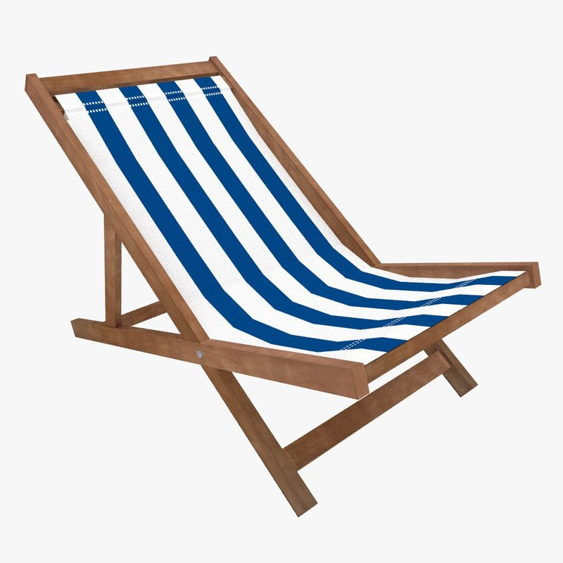 3d beach chair model
