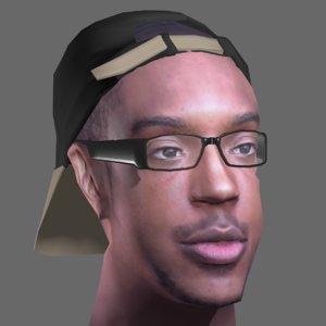 head man male 3d model