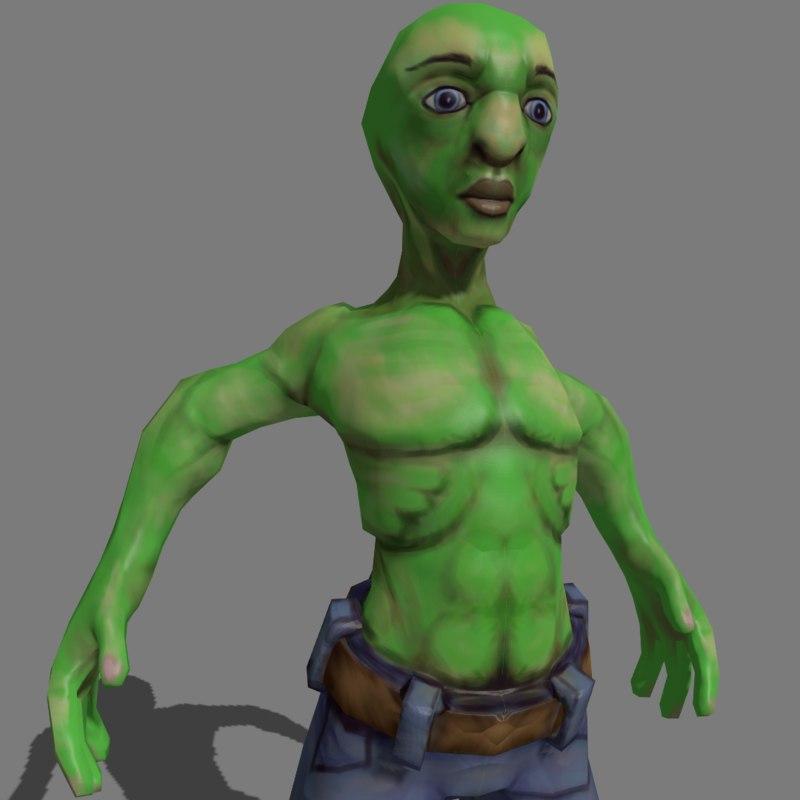 alien sculpted 3d 3ds