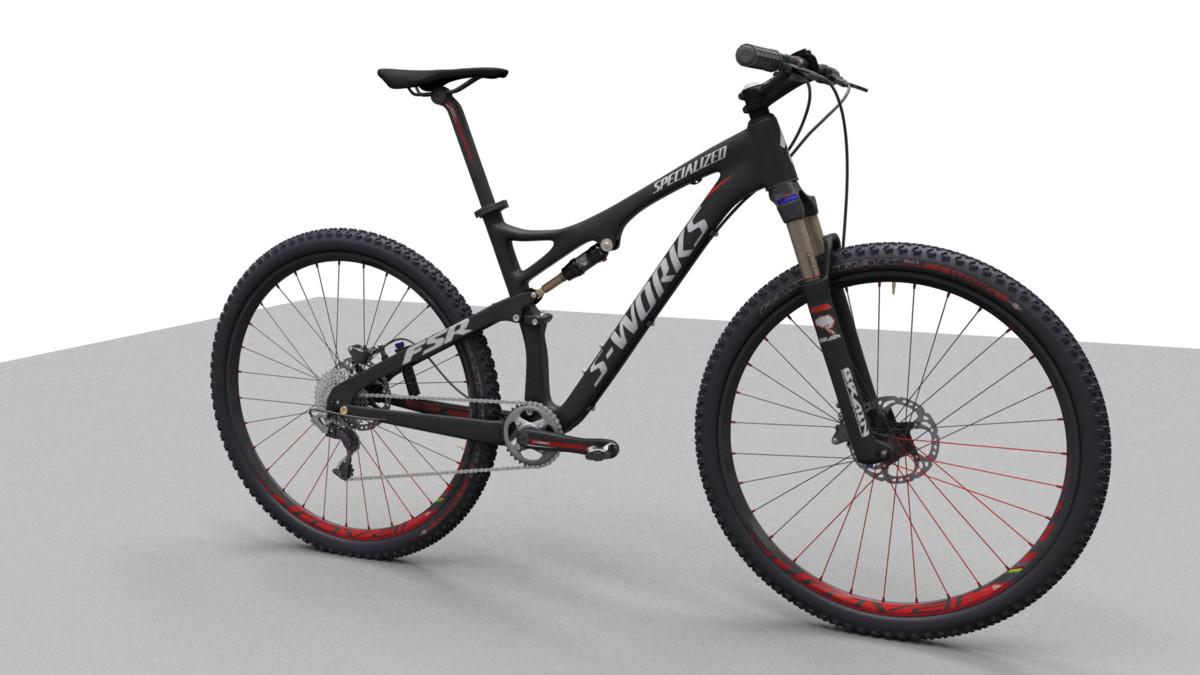 mountain bike specialized 3d model