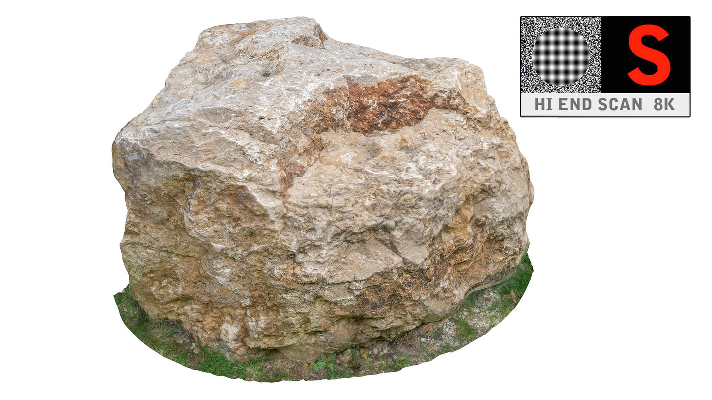 jurassic rock scanned 8k obj