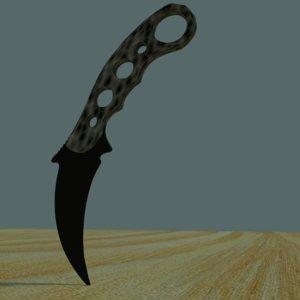 knife kerambit obj