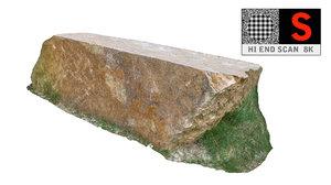 jurassic rock scan hd 3d obj