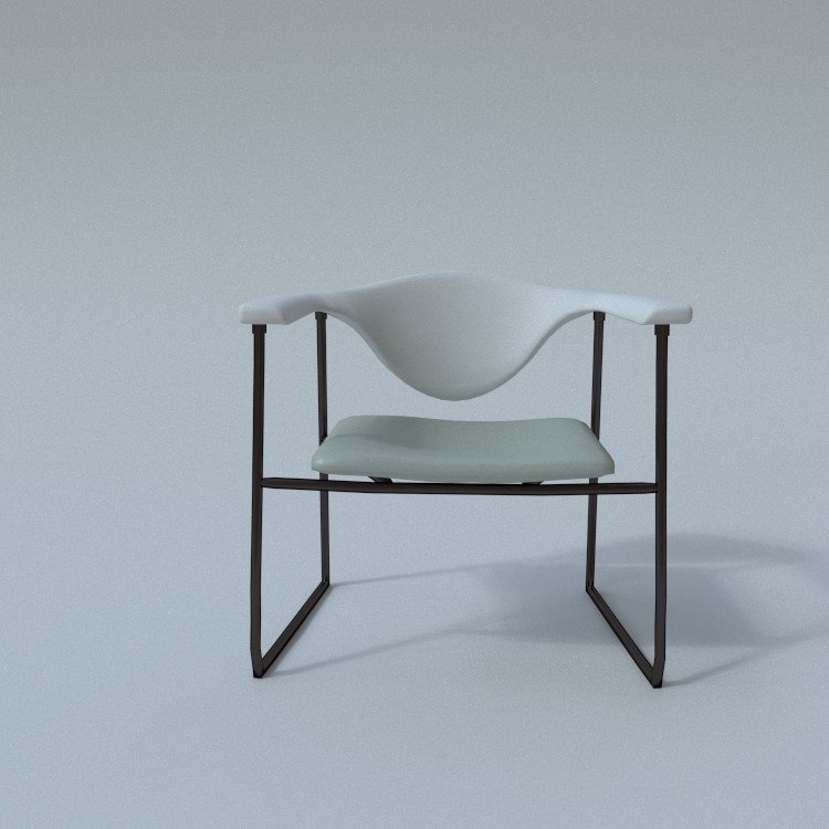 3d model of gubi-masculo chair