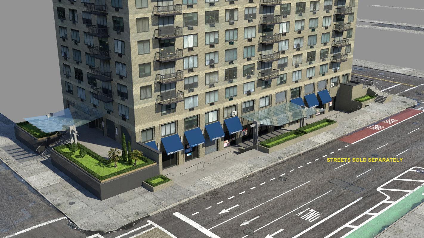 3d model nyc apartment building