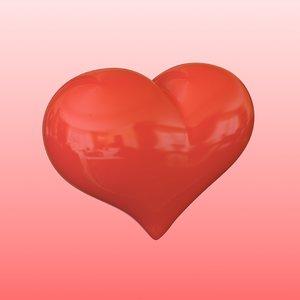 3d model heart looped