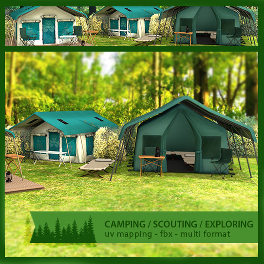 camping tents 3ds