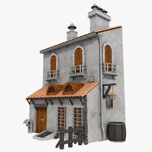 old house medieval building 3d model