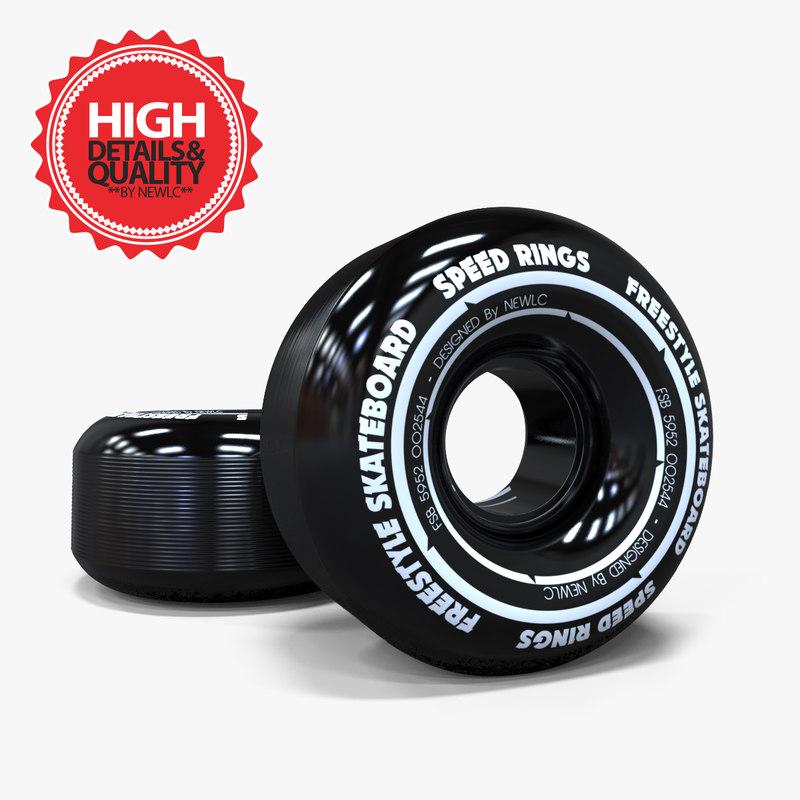 3d skateboard wheels model
