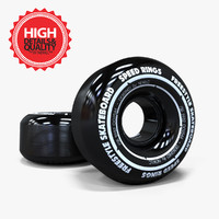 3d skateboard wheels model