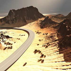 3d model terrain road vue