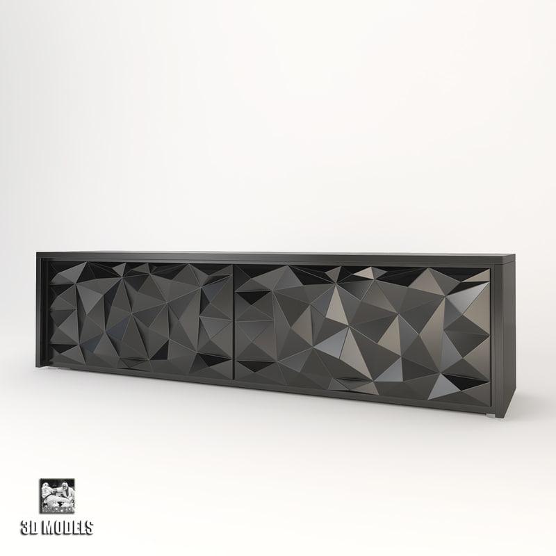 fendi cabinet royal diamond 3d max