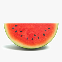 3d 3ds watermelon water melon