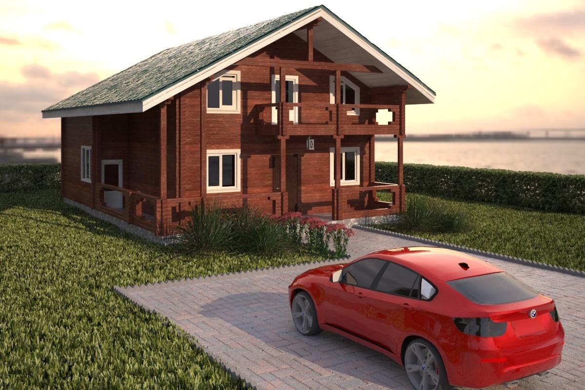 3d model town house