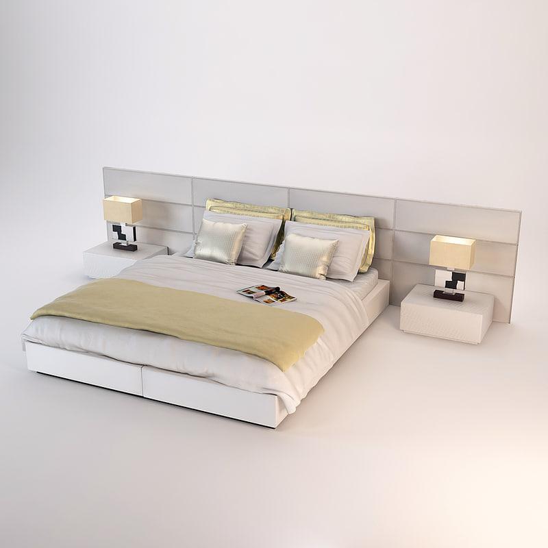 fendi urano bedroom set 3d model