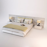 fendi urano bedroom set 3d model