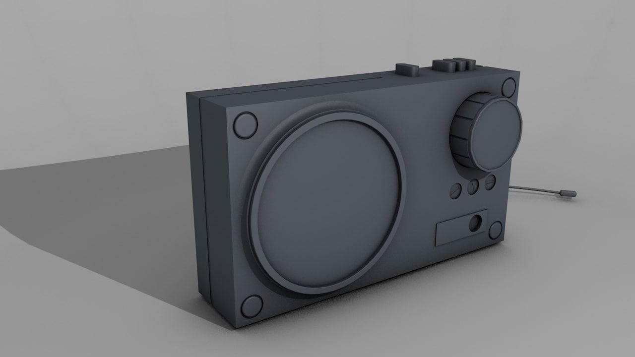 free c4d model radio ussr