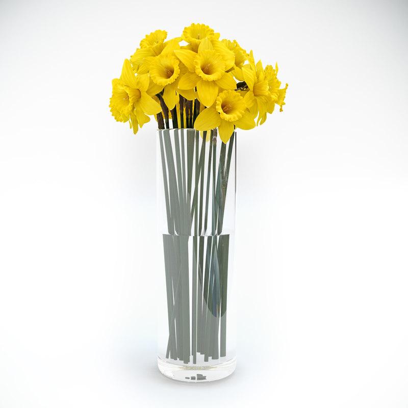 3d tubular daffodil