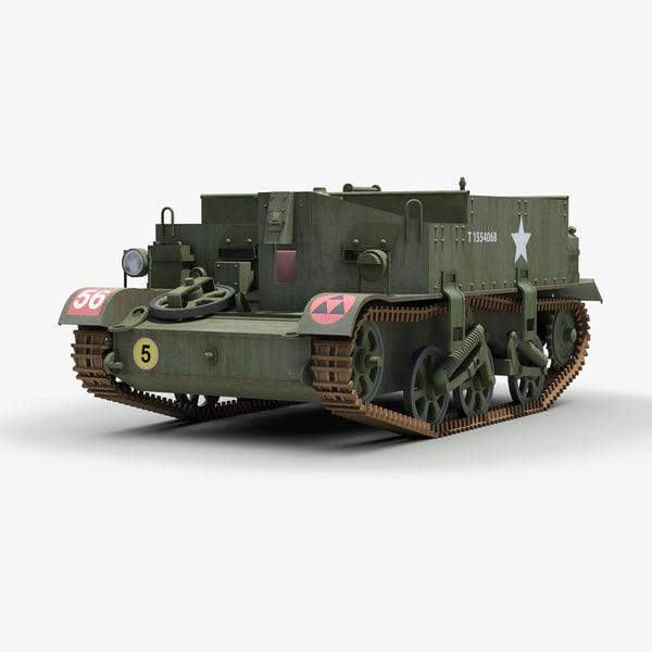 ww2 universal carrier bren gun 3d max