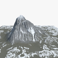 snow mountain 3d max