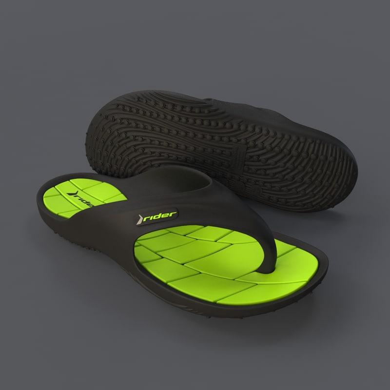 3ds max flipflops shoe footwear
