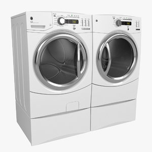 3d washer dryer model