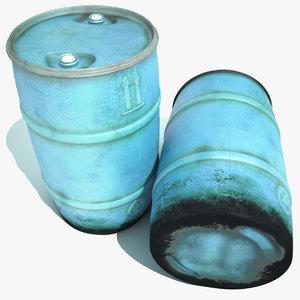 3ds max used blue plastic barrel