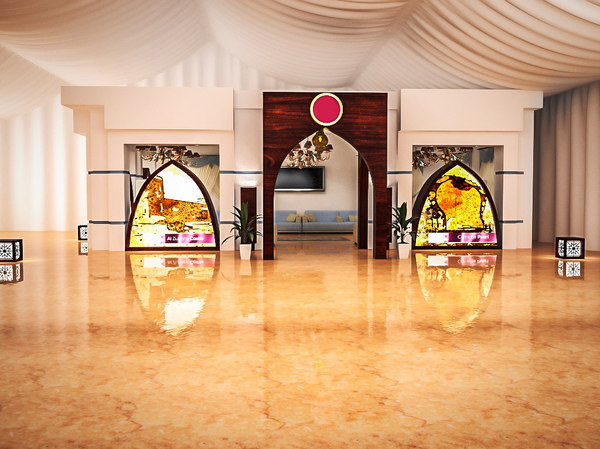 3d model modern arabian tent hall