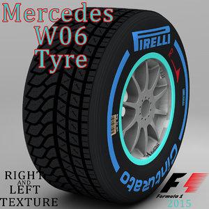 3d max pirelli tyre w06