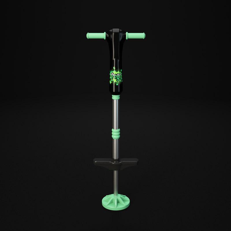 3d pogo pogostick stick