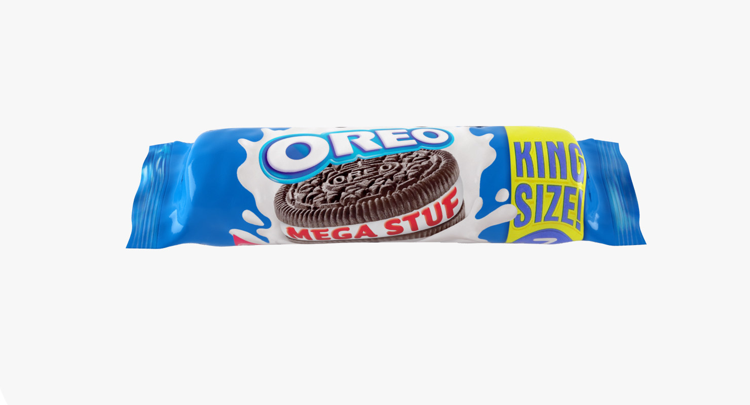 oreo biscuit pack 3d max