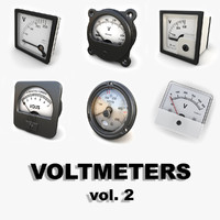 analog voltmeters 3ds