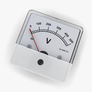 3d model dc voltmeter 02