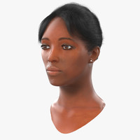 African American Woman Head