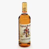 captain morgan bottle c4d