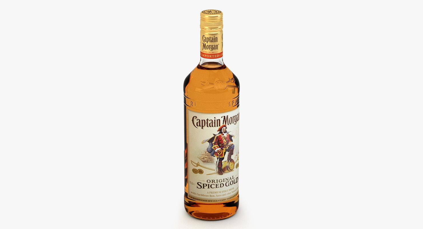 captain morgan bottle c4d