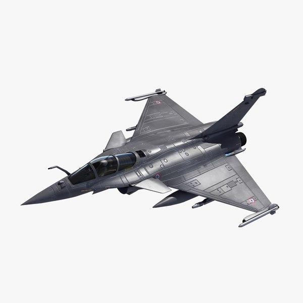 3d rafale c military fighter jet model