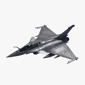 3d rafale c military fighter jet model