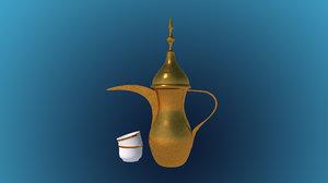 arabic coffeepot c4d