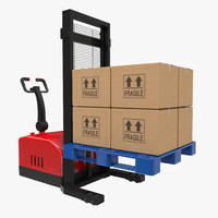 electric walkie stacker plastic 3d model