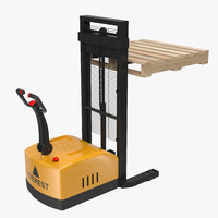 3ds max electric walkie stacker wooden pallet