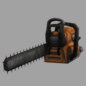3d chainsaw tool weapon model