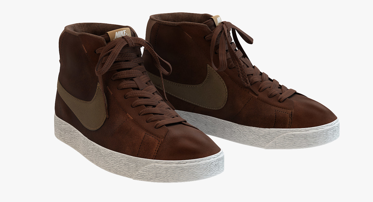 3d - nike blazer brown