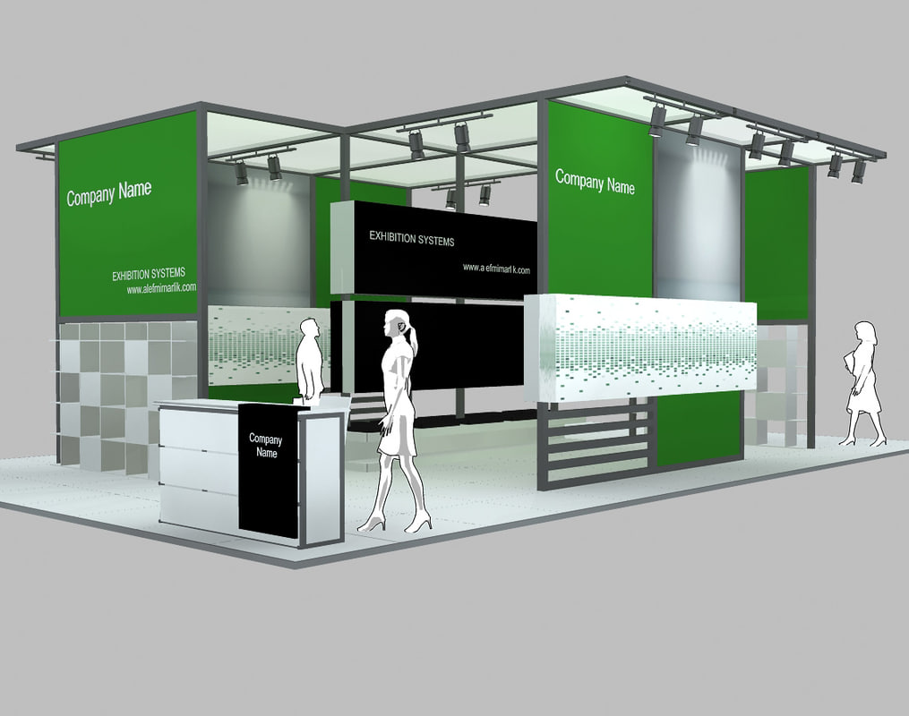 stand exhibition 3d model