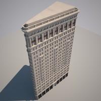 3d model flatiron building flat