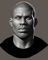 High Poly Head Male african 3