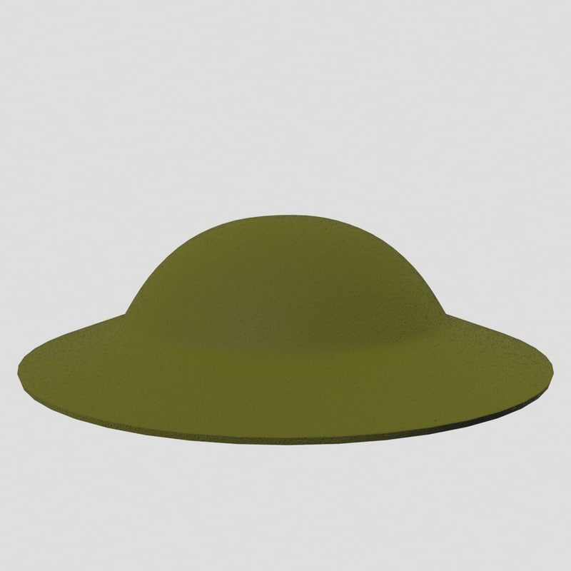 world war helmet 3d model