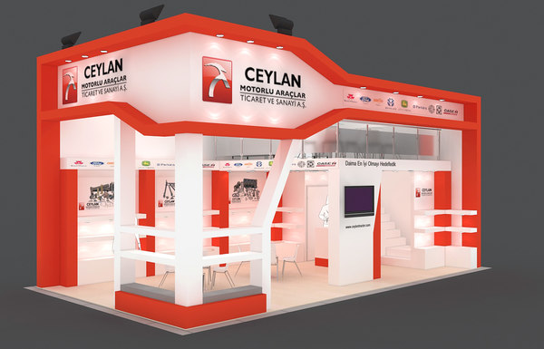 3d model fair stand exhibition