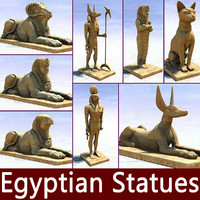 3d model of ancient egyptian egypt statues