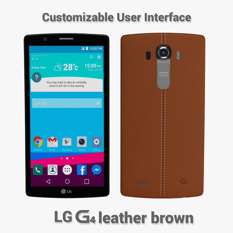 3d model of lg g4 leather